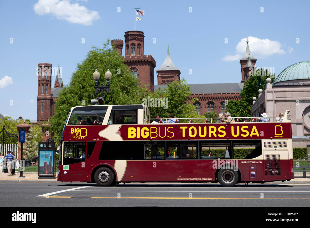 Big Bus Double Decker Tour Bus Washington DC USA Stock Photo - Bus tours usa