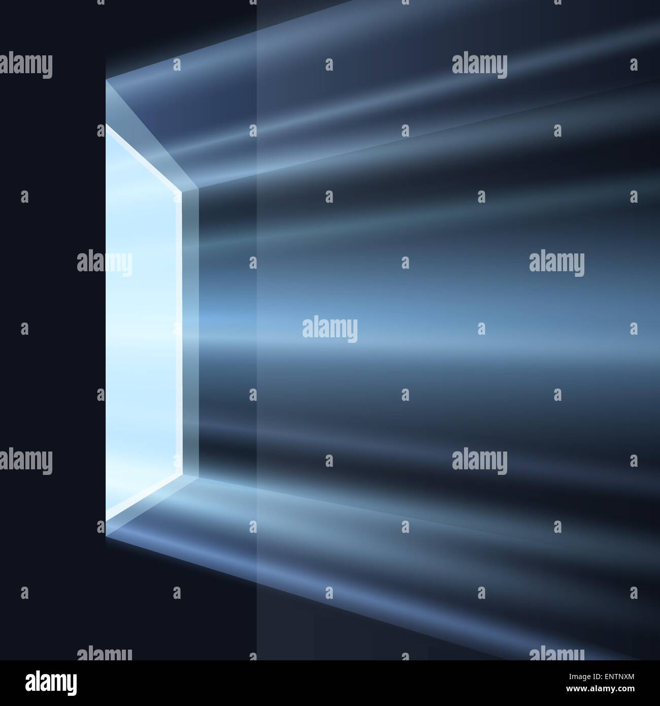 Dark room with light through window - Ray Of Light Through The Window In Dark Room