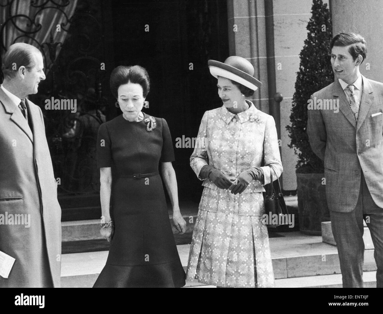 The Queen And The Duke Of Edinburgh With Prince Charles