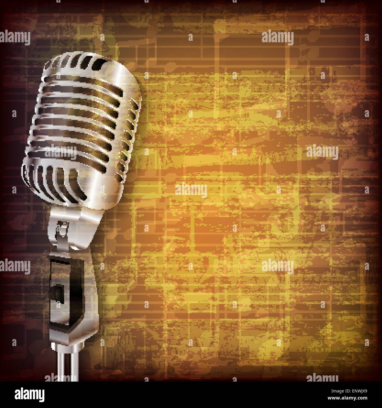 Retro microphone background Vector   Free Download
