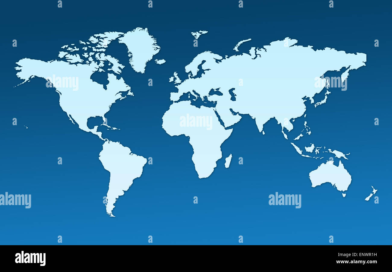 Map of the whole world Images of all continents and oceans on a