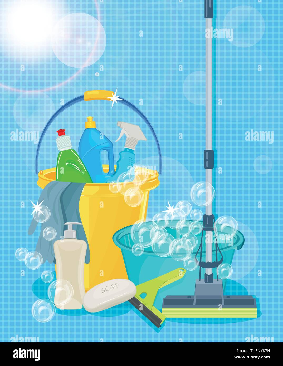 Poster design kit - Poster Design For Cleaning Service And Cleaning Supplies Cleaning Kit Icons