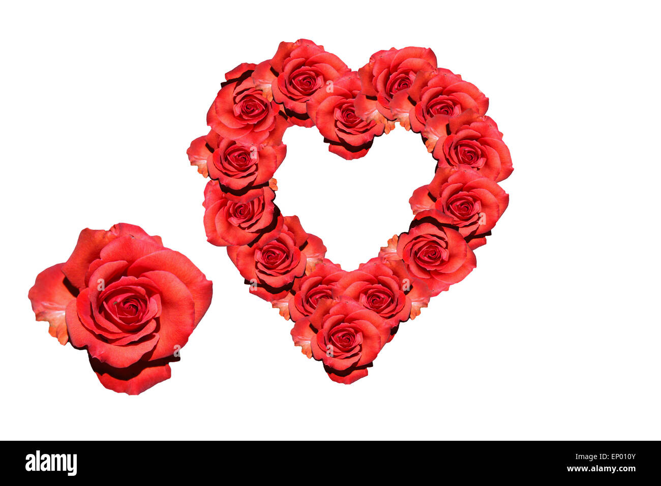 Herz: Rote Rosen   Symbolbild Liebe/ Valentinstag/ Heart: Red Rose    Symbolic Image For Love, Affection And Valentines Day.