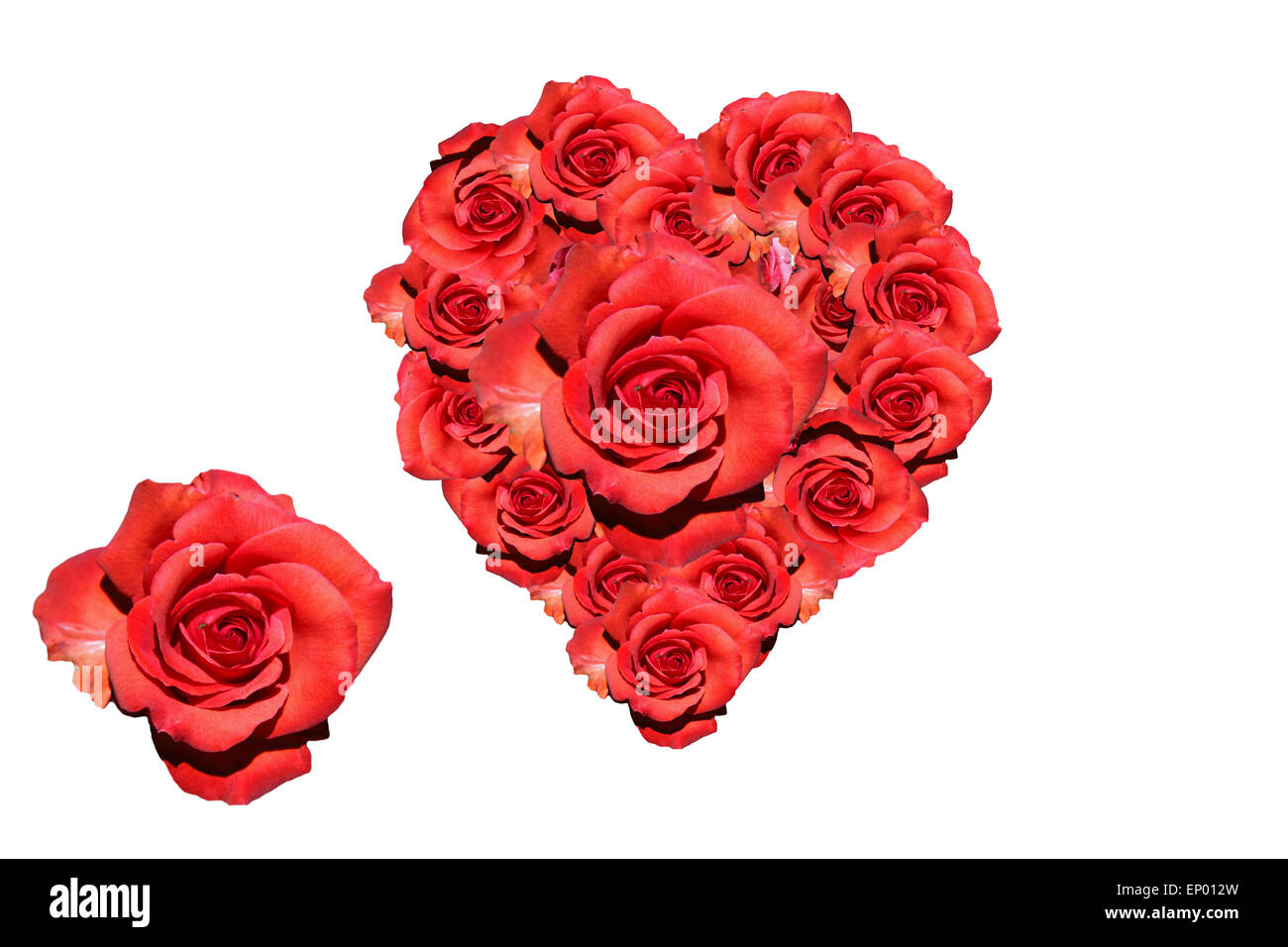 Herz: Rote Rosen   Symbolbild Liebe/ Valentinstag/ Heart: Red Rose    Symbolic Image For Love, Afection And Valentines Day