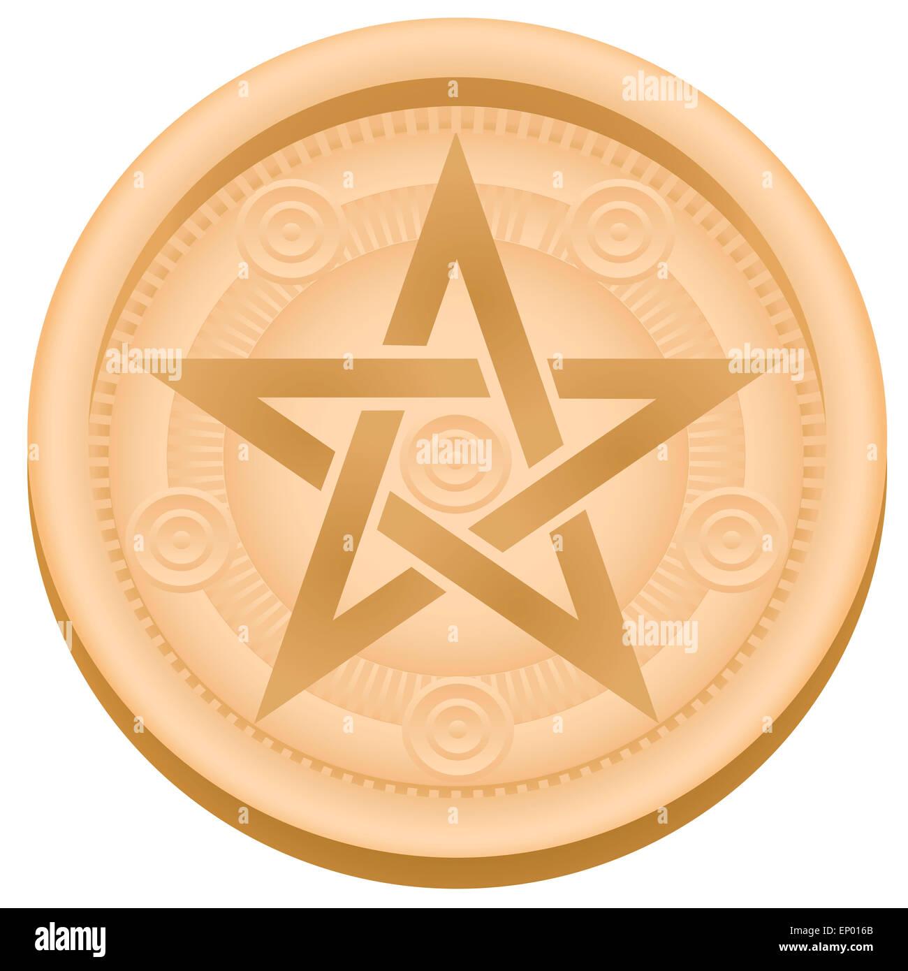 Pentagram symbol stock photos pentagram symbol stock images alamy pentacle an esoteric pentagram symbol illustration on white background stock image biocorpaavc Images