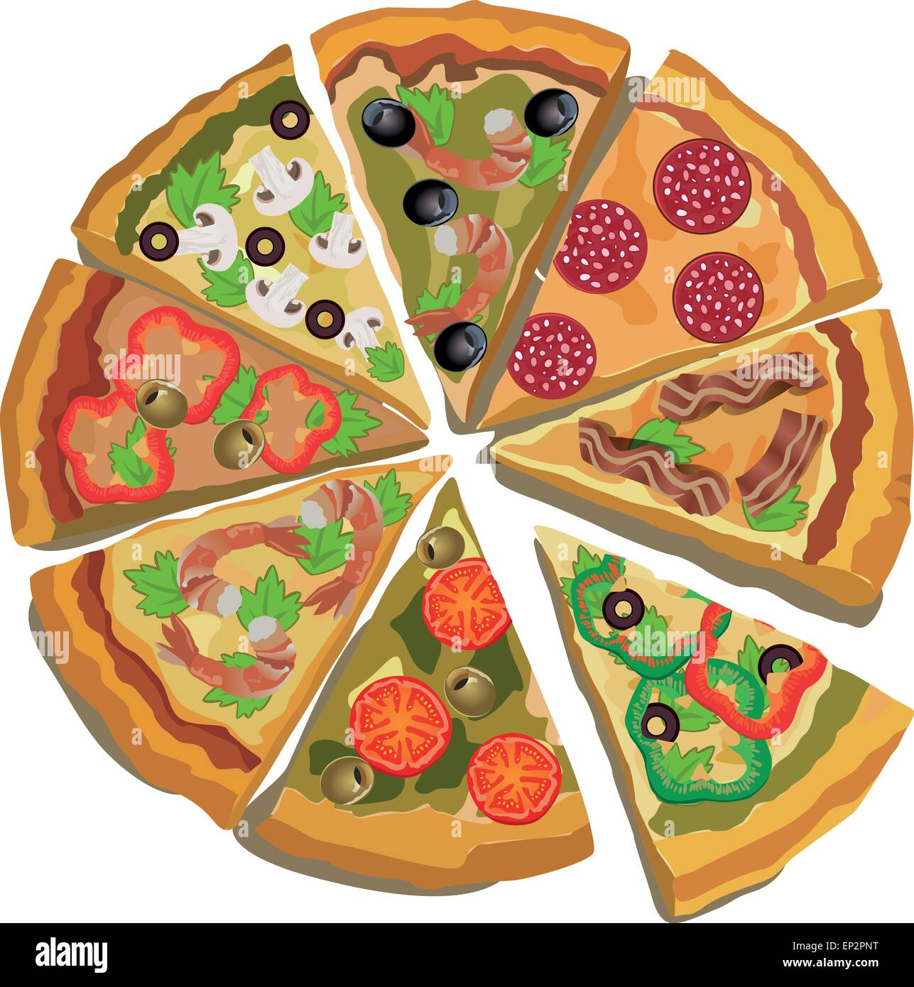 Vector Pizza Label Or Poster Design Template