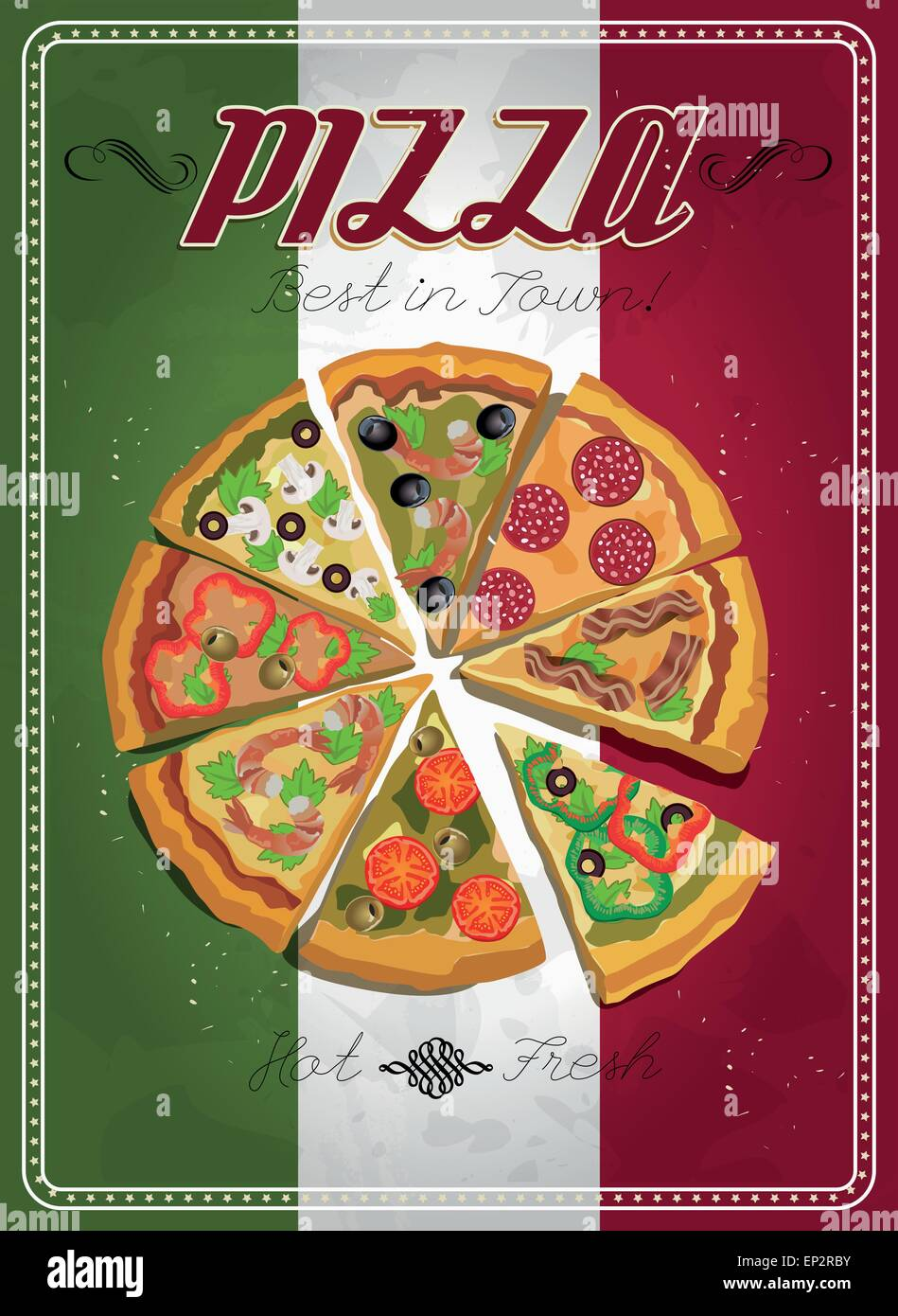 Poster design template - Stock Vector Vector Pizza Label Or Poster Design Template Pizza Design Menu Poster With Pizza And A Slice Of Pizza