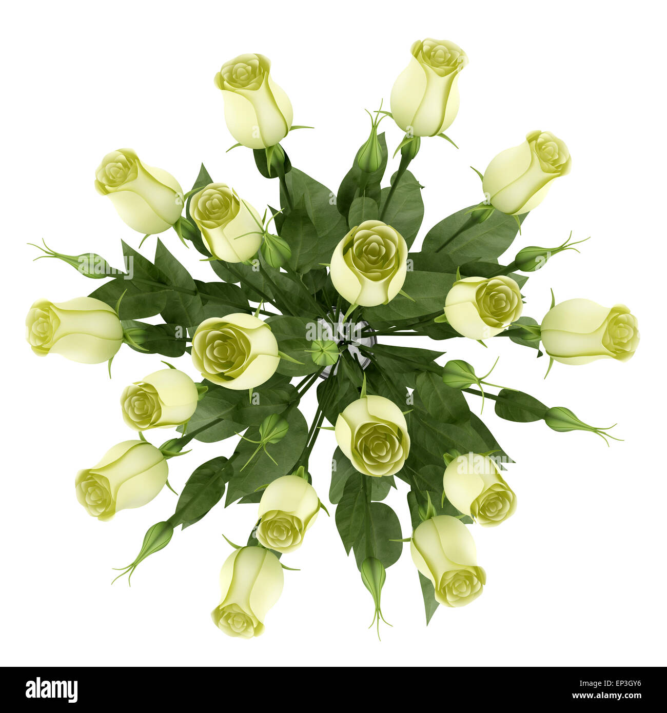 Top view of yellow eustoma flowers in glass vase stock photo top view of yellow eustoma flowers in glass vase reviewsmspy