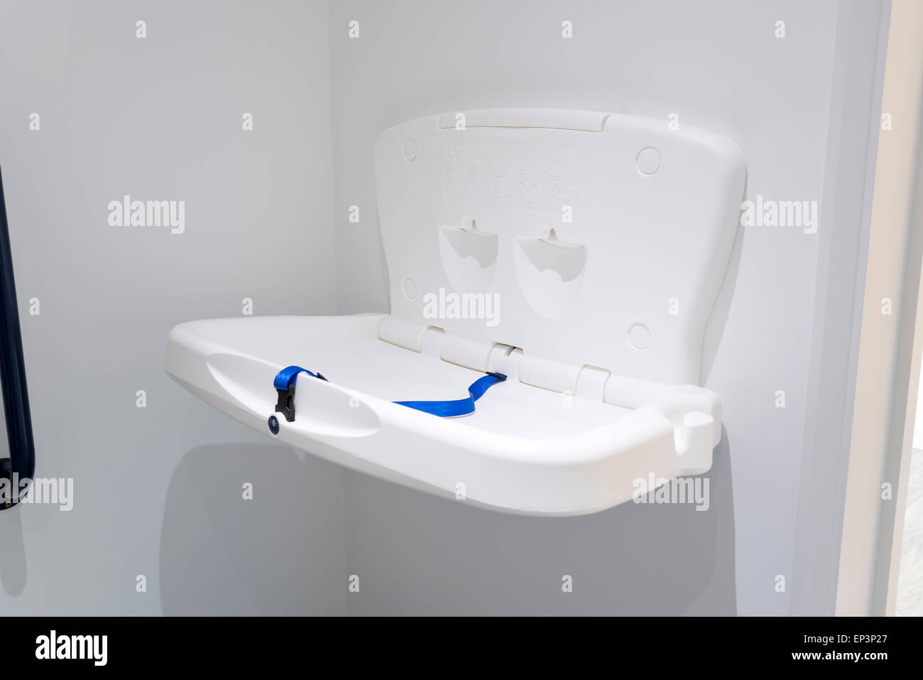 Bathroom Changing Table baby changing table in a toilet stock photo, royalty free image