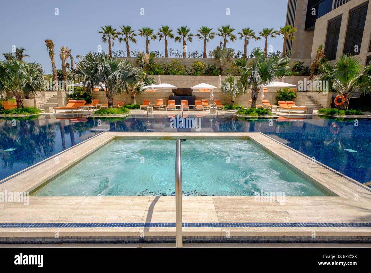 swimming pool at new luxury four seasons hotel bahrain bay in manama stock photo royalty free