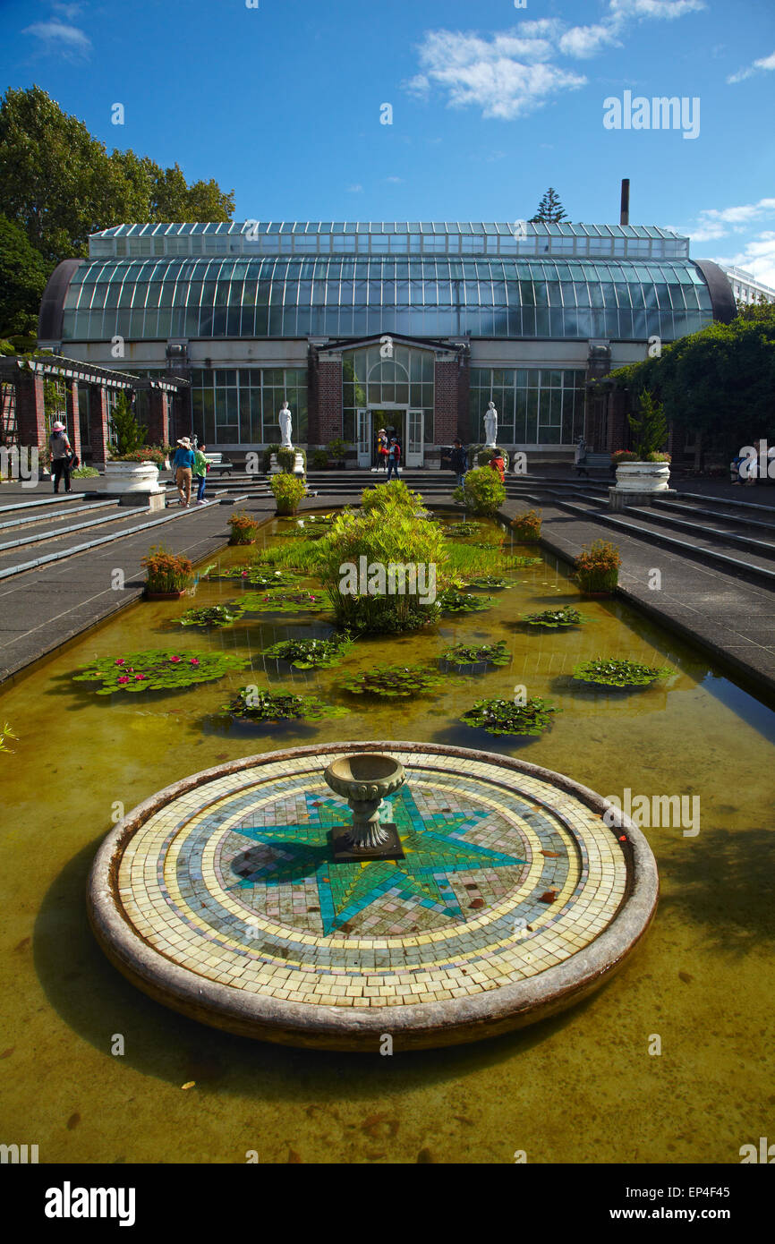 pond and tropical house historic wintergardens auckland domain