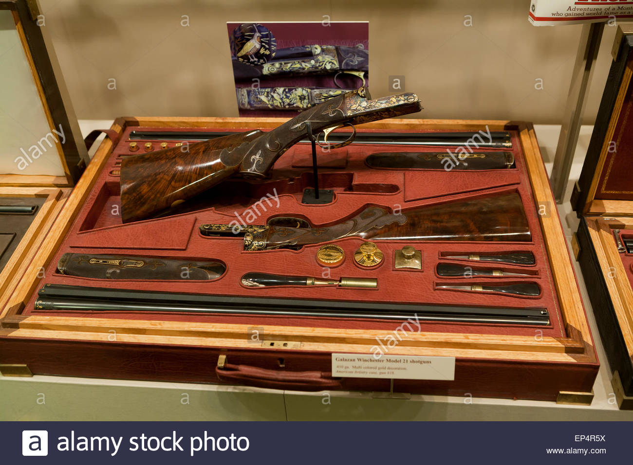 Galazan Winchester Model  Shotguns In Case At National Firearms - Gun museums in usa