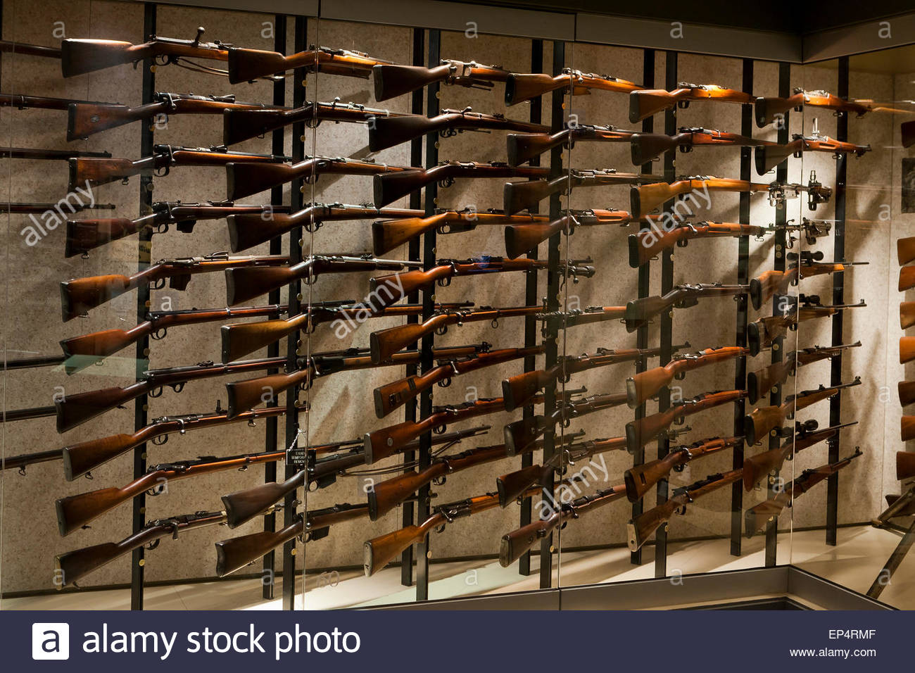 Vintage Rifles On Display At NRA Museum Fairfax Virginia USA - Gun museums in usa