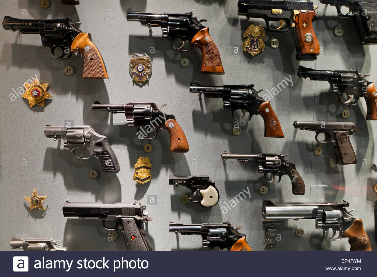 Police Issued Guns On Display At NRA Museum Fairfax Virginia - Gun museums in usa
