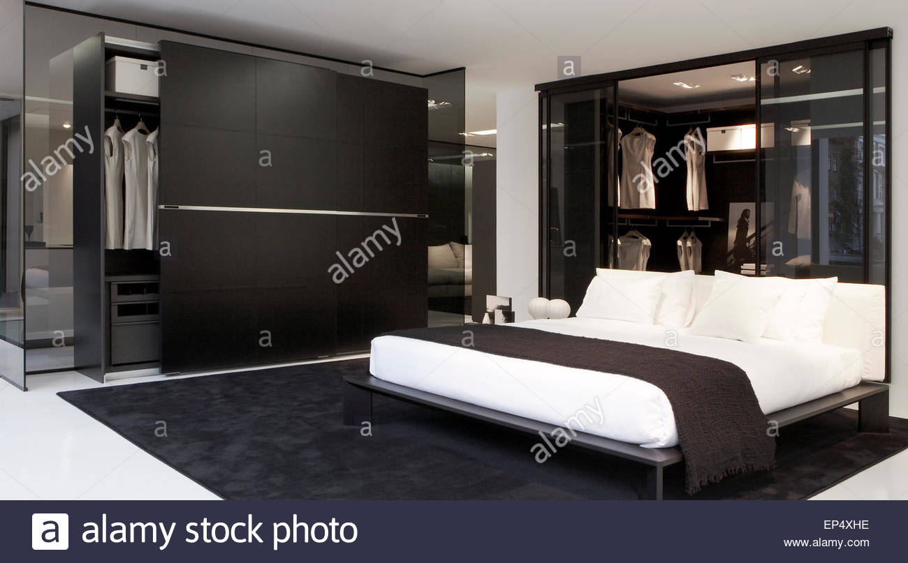 Bedroom area poliform showroom london london united kingdom stock photo royalty free image - Poliform showroom ...