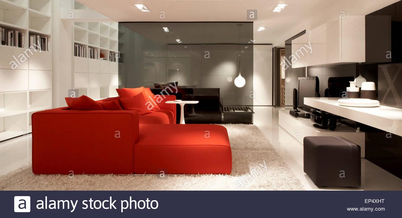 Living room area poliform showroom london london united kingdom stock photo royalty free - Poliform showroom ...
