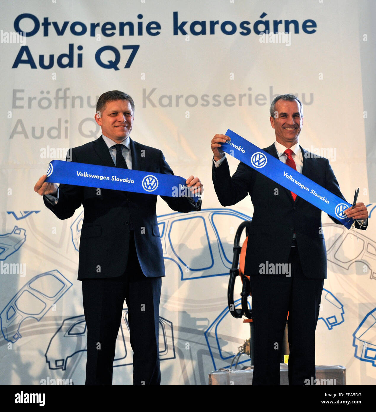 new car launches may 2015Volkswagen Bratislava 15th May 2015 From Left Slovak Prime