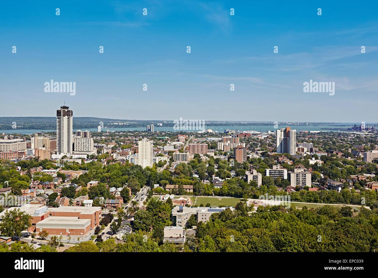 Downtown Hamilton Viewed From The Escarpment Hamilton Ontario Stock Photo Royalty Free Image