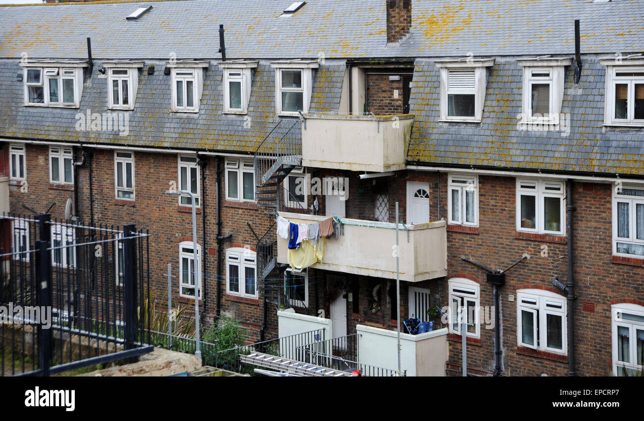Milner Flats Tenement council block of flats social ...