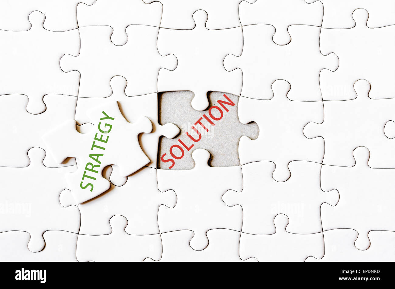 Epd Stock Quote Missing Jigsaw Puzzle Piece With Word Strategy Covering Text