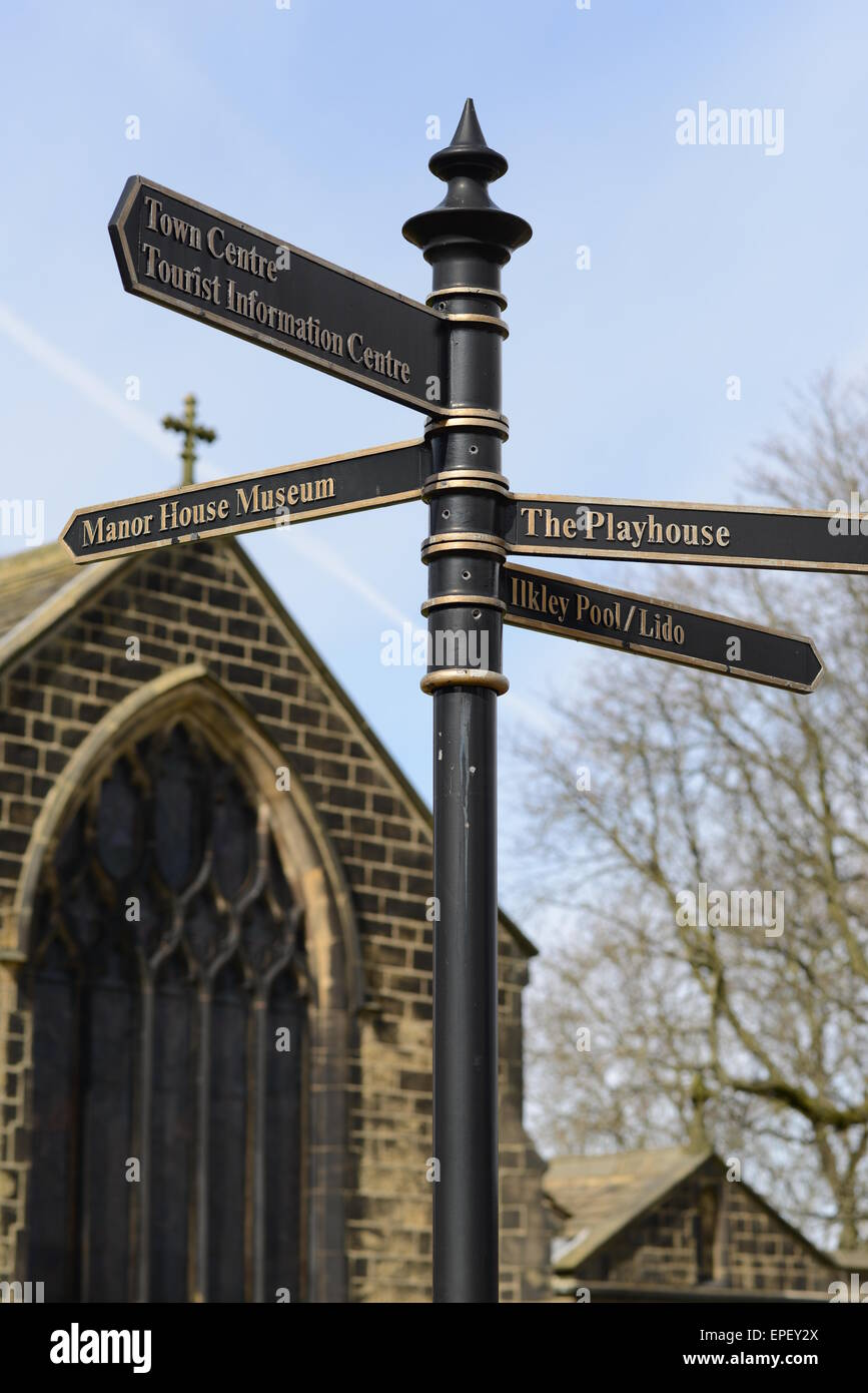 ilkley parish church ilkley stock photo royalty free image
