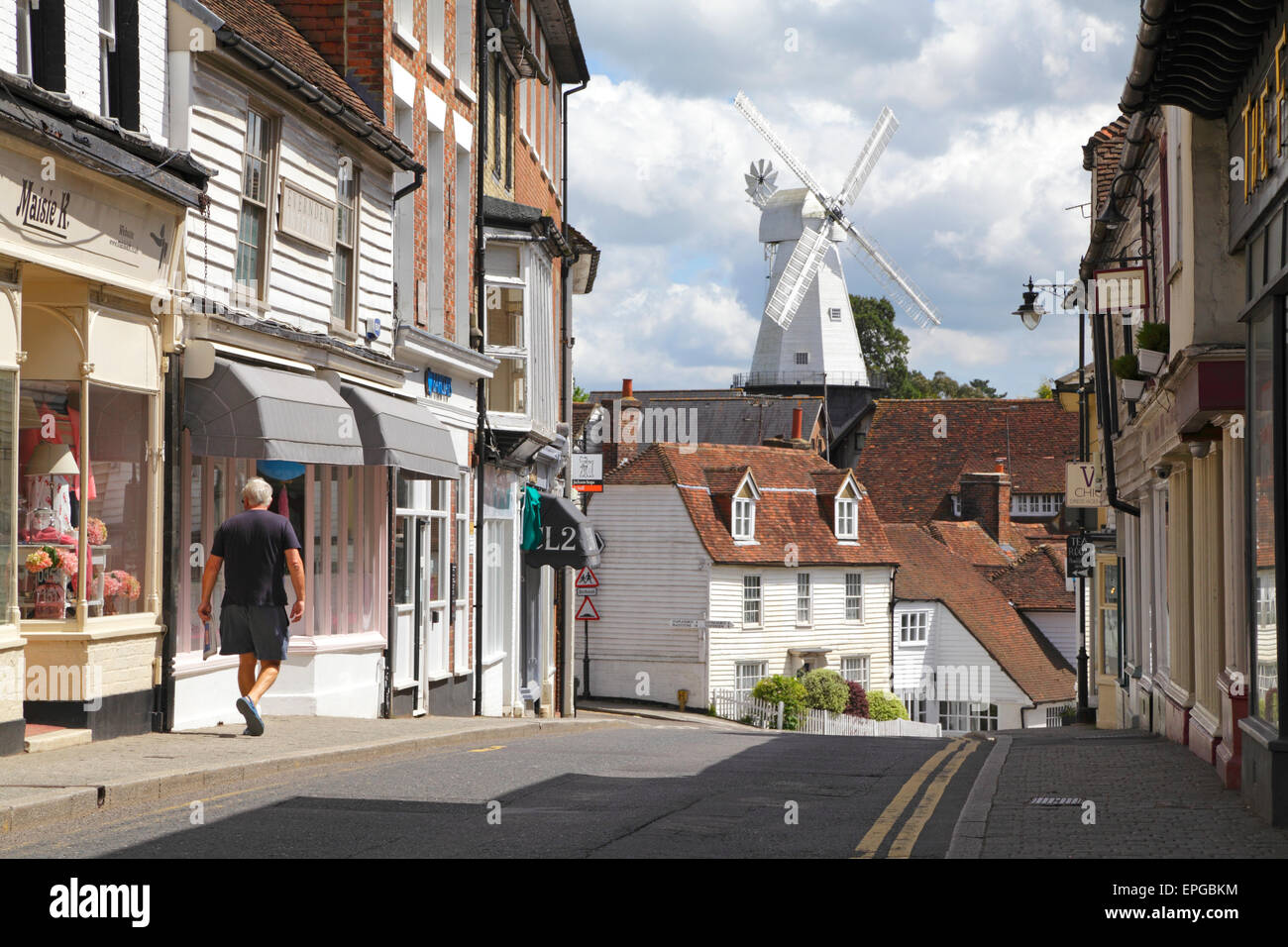 View Along Stone Street To The Union Windmill Cranbrook