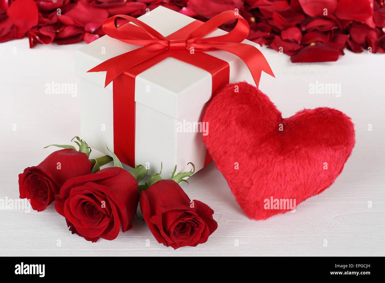 Geschenk mit herz und rosen zum geburtstag muttertag oder - Geschenk 70 geburtstag mutter ...
