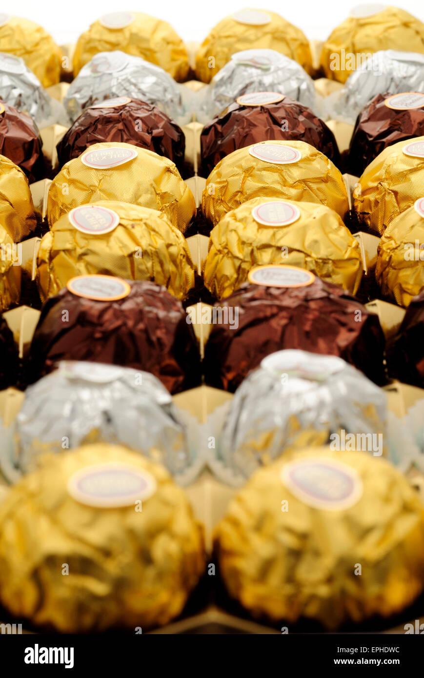 Ferrero Rocher Chocolates Stock Photo, Royalty Free Image ...