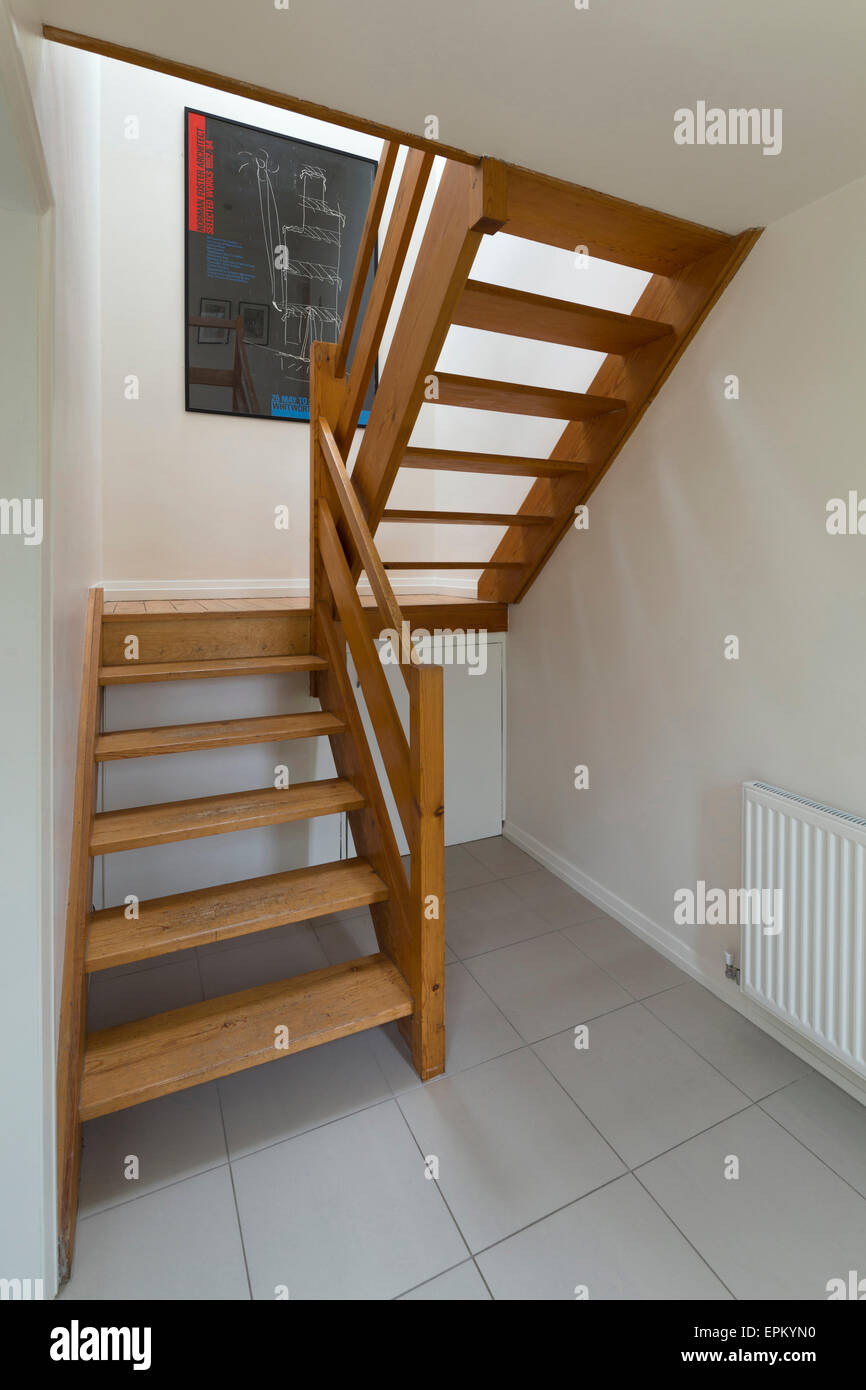1960's Open Tread Timber Staircase, Nottingham, England