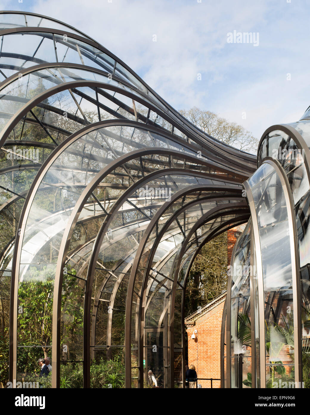 Detail view of glass houses bombay sapphire distillery laverstoke united kingdom architect