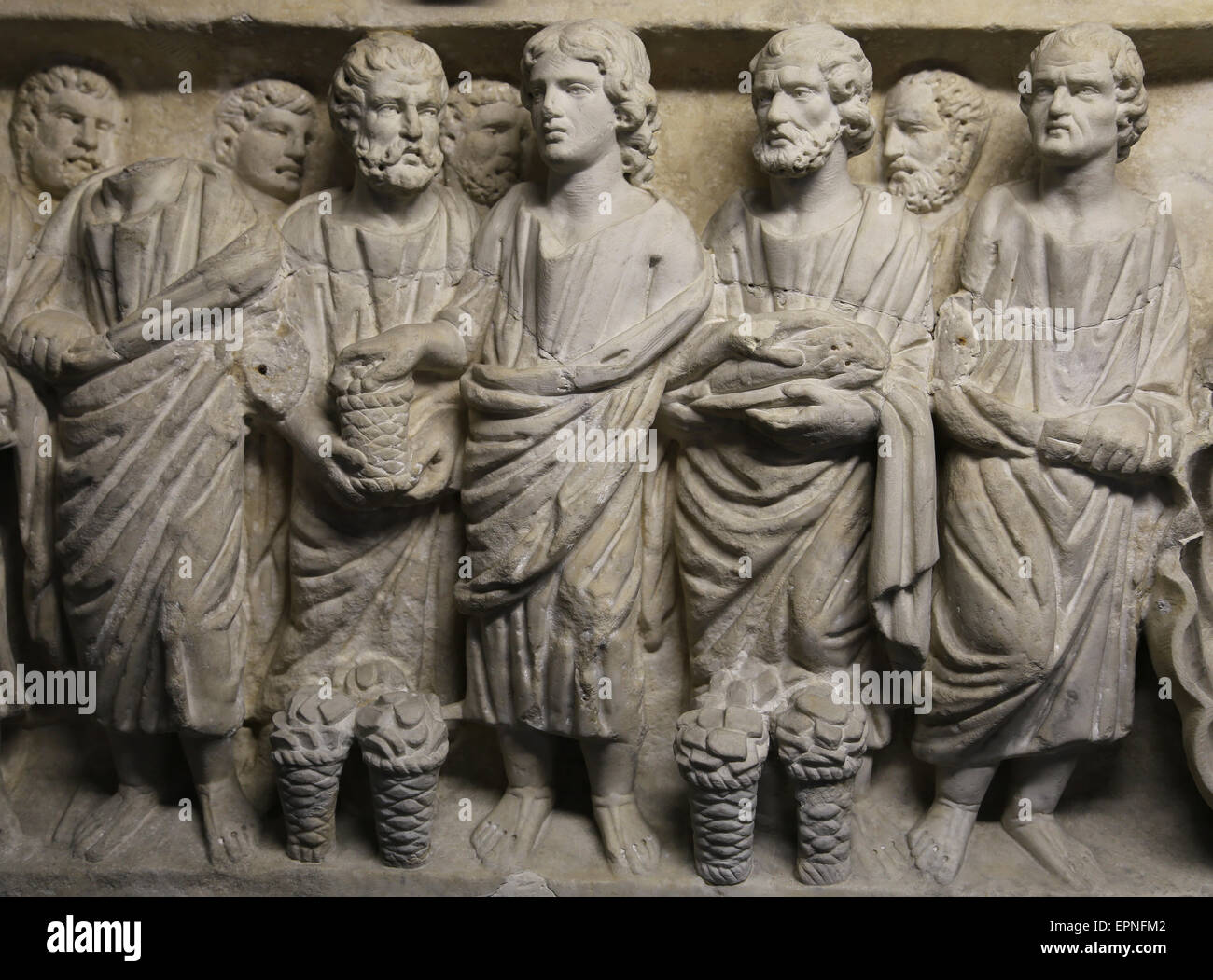 roman art early christian feeding the multitude miracles of