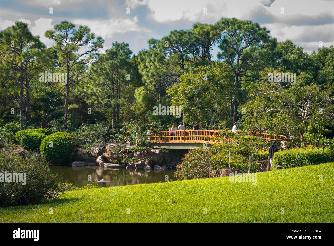 Florida Del Ray Beach Morikami Museum Park Roji En Japanese Gardens Stock Photo Royalty Free