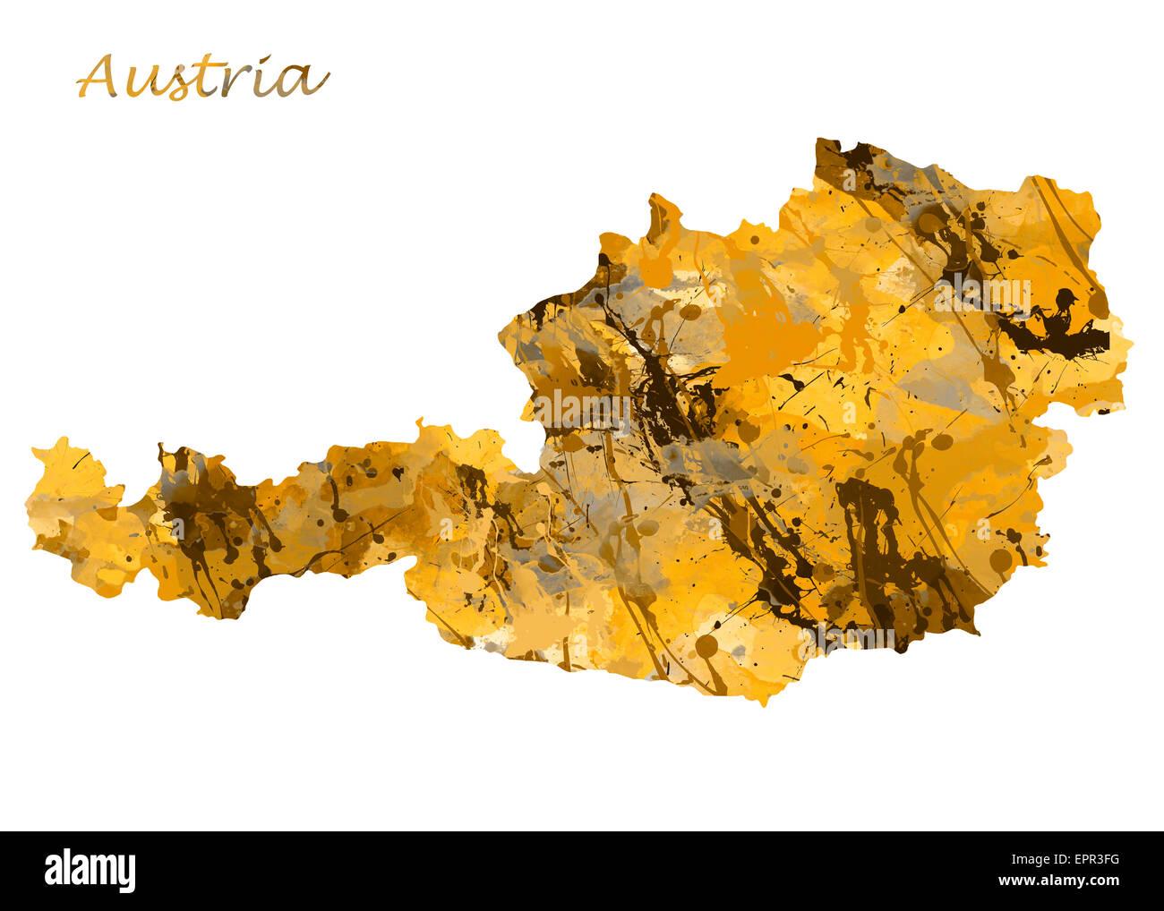 Austria Watercolor Map. Beautiful Wall Art / Home Decor Canvas ...