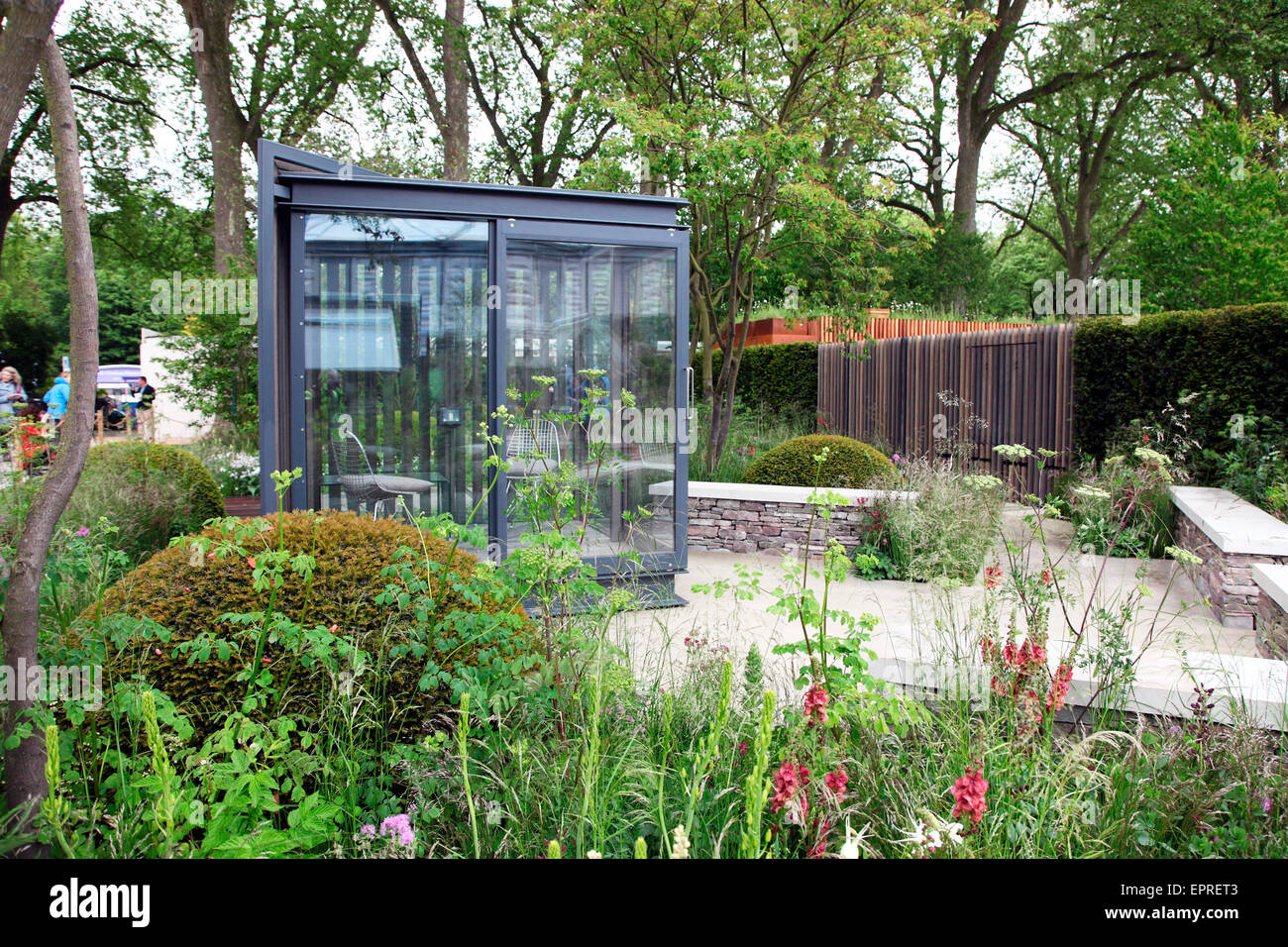 stock photo the cloudy bay garden by harry and and david rich at rhs chelsea flower show 2015