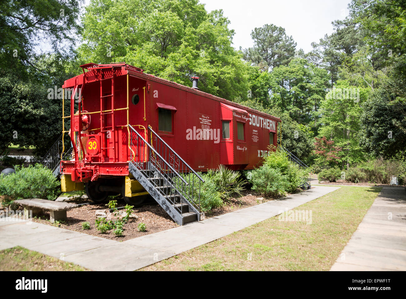 Bon Class Of 1939 Caboose Garden, South Carolina Botanical Gardens, Clemson,  South Carolina, USA