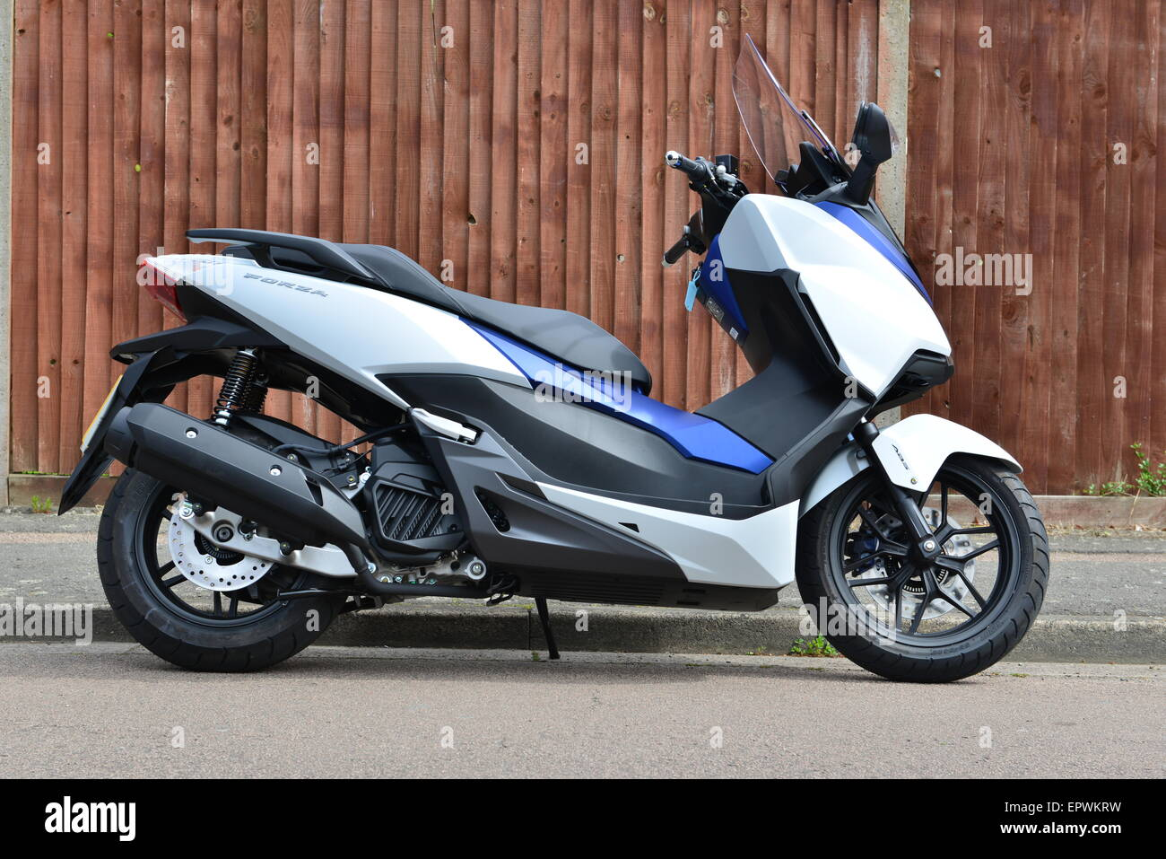 honda forza 125 scooter stock photo royalty free image 82928269 alamy. Black Bedroom Furniture Sets. Home Design Ideas