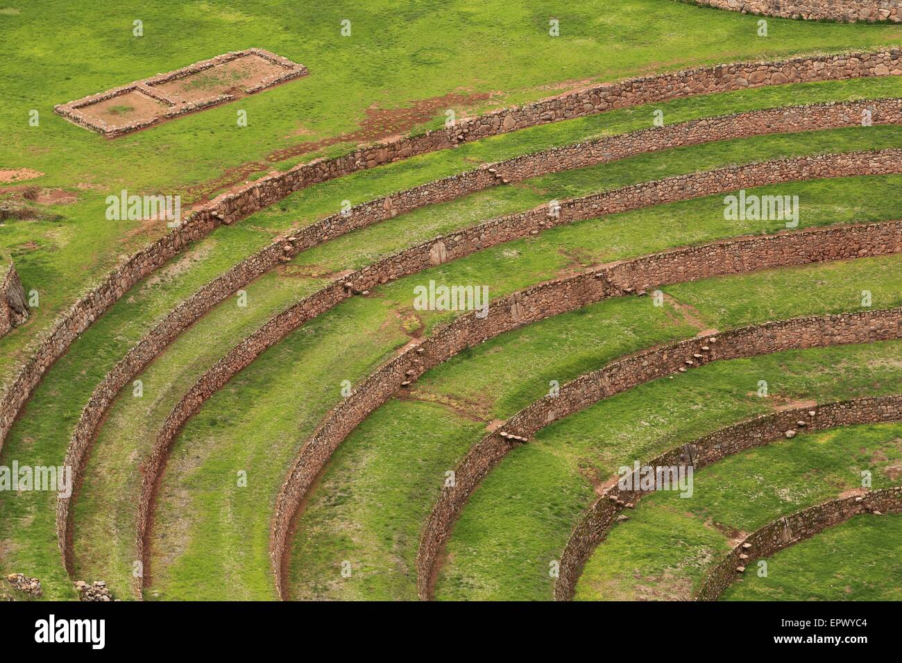 Mountain living near cusco peru royalty free stock photo - Circular Inca Ruins At Moray In The Sacred Valley Near Cusco Peru Thought To Be