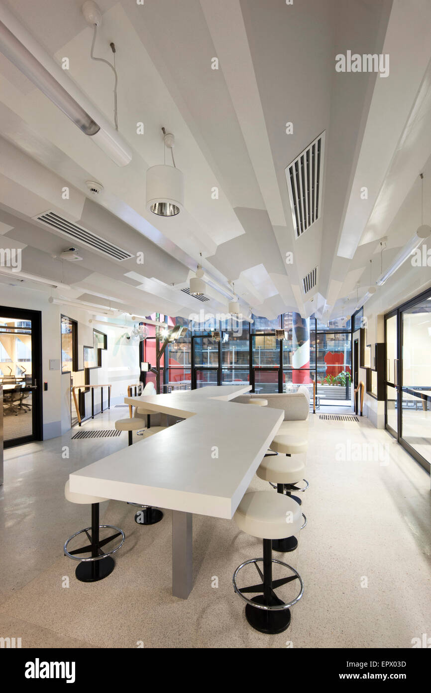 White study area in Swanston Academic building RMIT Melbourne