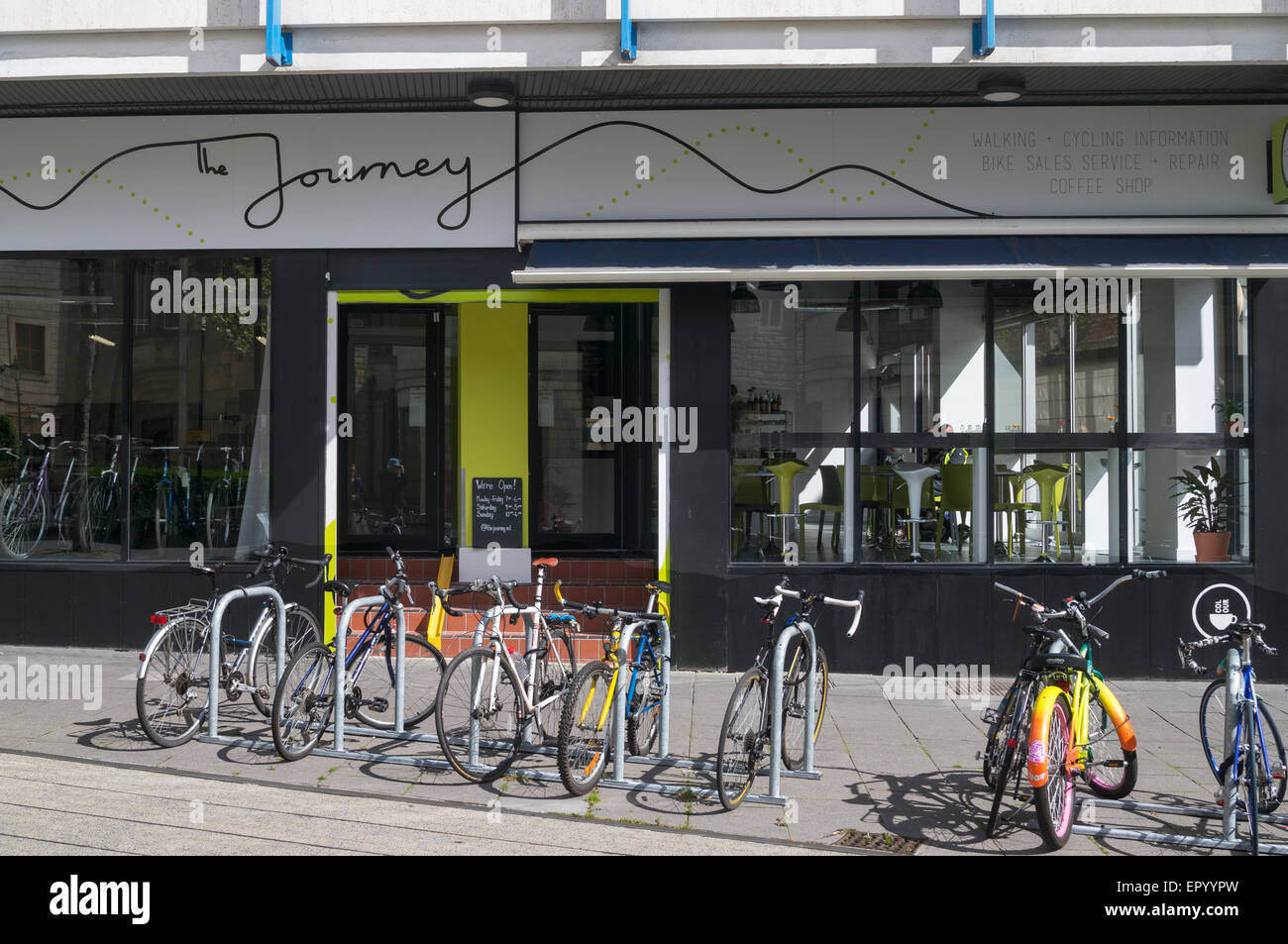 Sustrans New Bike Hub Cafe And Cycling Information Centre The