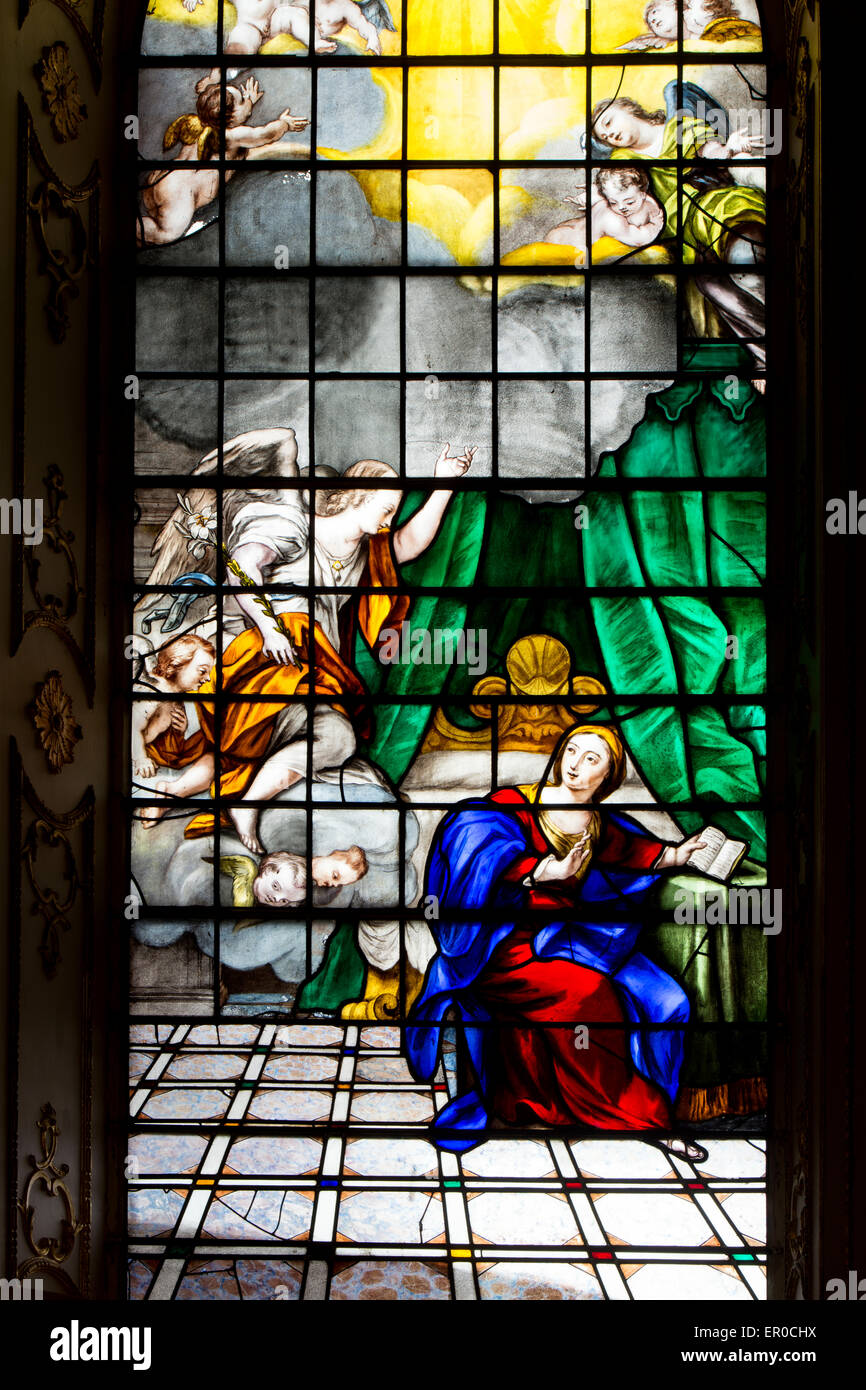 the annunciation of the virgin mary stained glass st