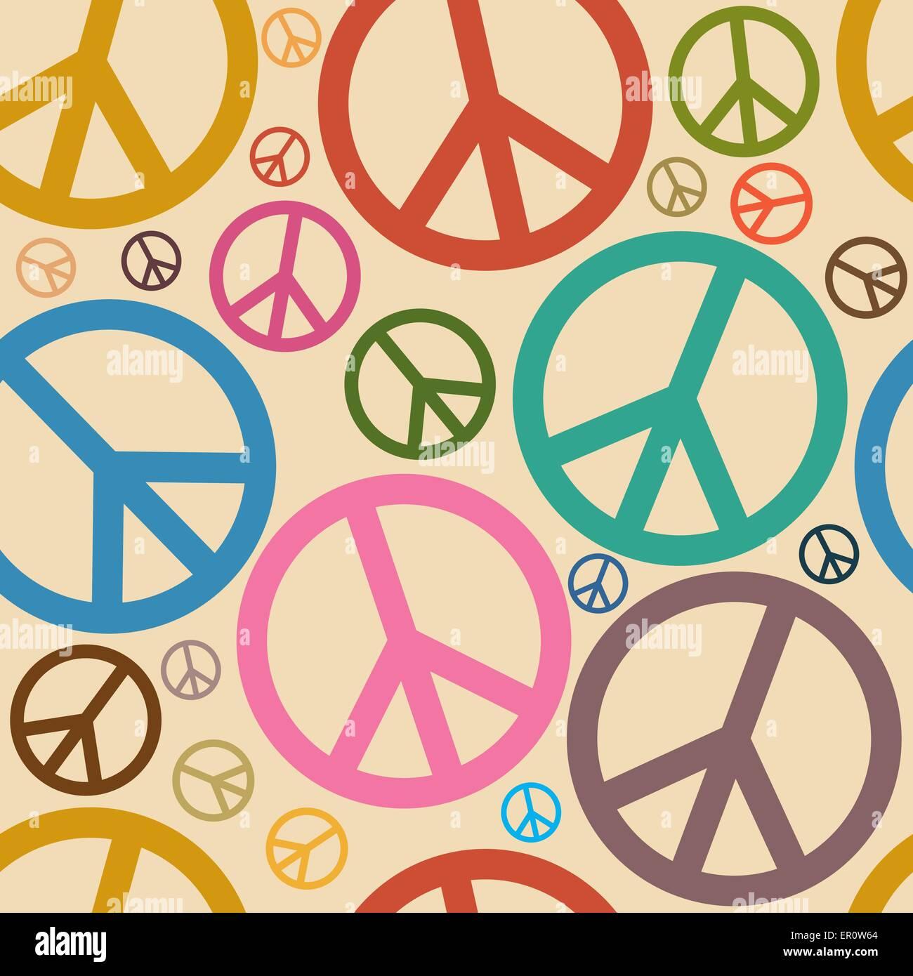 Seamless retro peace symbol background stock vector art seamless retro peace symbol background biocorpaavc Images