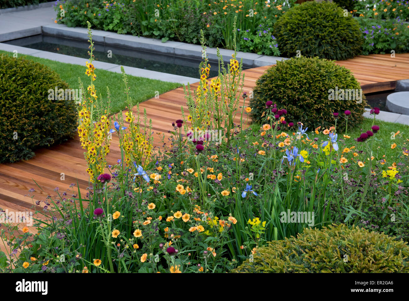 Stock Photo   The Homebase Urban Retreat Garden Designed By Adam Frost And  Winner Of A Gold Medal In The Show Gardens Category At The Chelsea