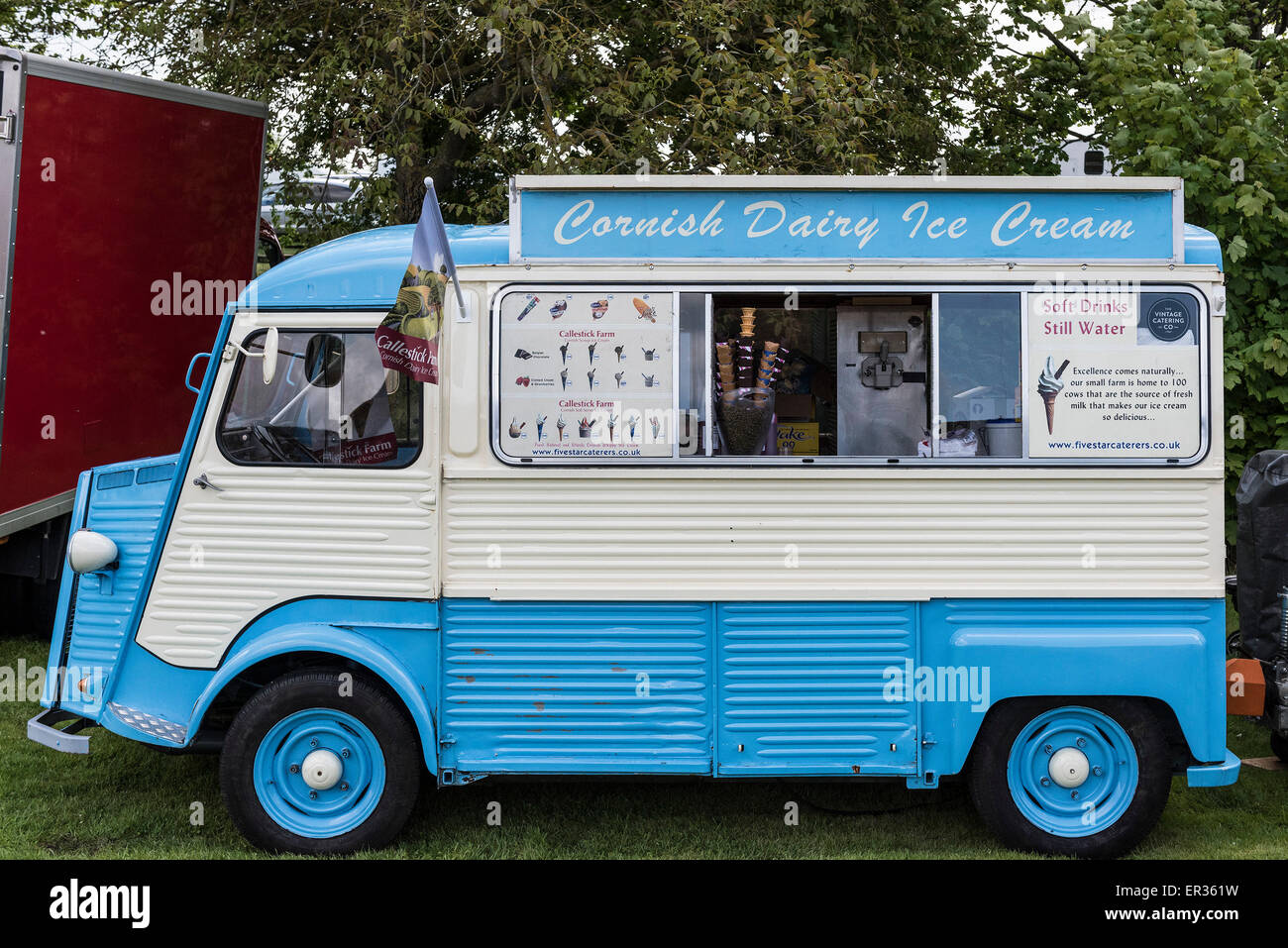 Converted Vans A Citroen Van Converted To An Ice Cream Van Stock Photo Royalty