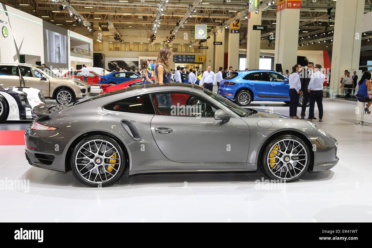 Porsche 911 turbo stock photos porsche 911 turbo stock images istanbul turkey may 21 2015 porsche 911 turbo s in istanbul autoshow vanachro Gallery