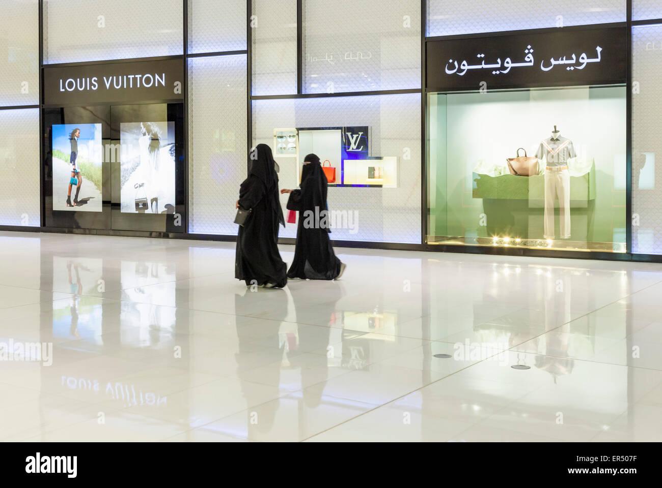 louis vuitton store outside. arab shoppers outside louis vuitton store dubai mall city, united emirates, uae, middle east