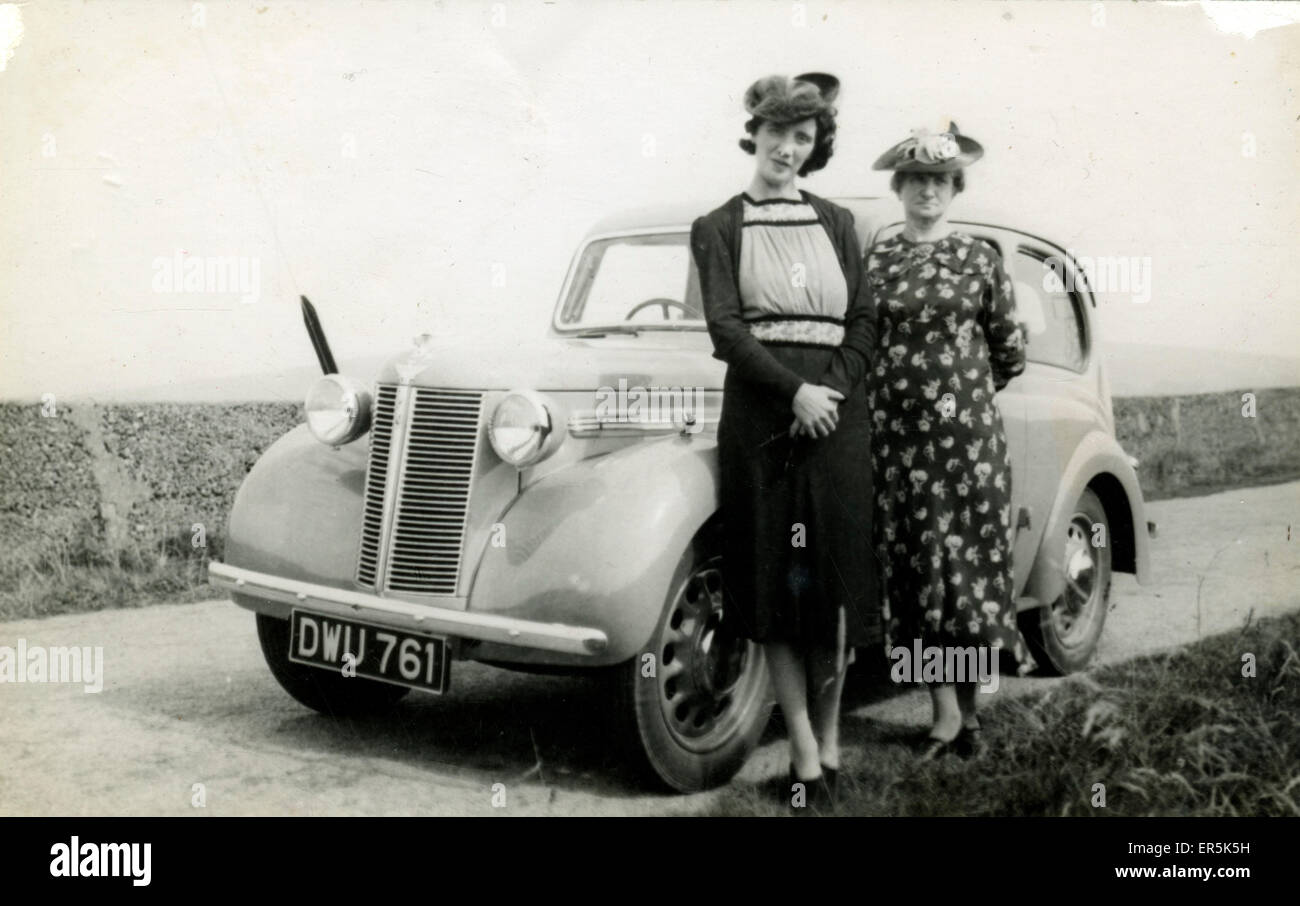 Austin Eight Vintage Car, Britain. Cardiff registration. 1940s ...