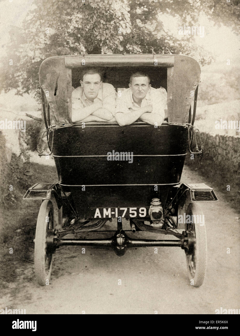 Early Model T Ford Vintage Car, Britain. Swindon registration ...