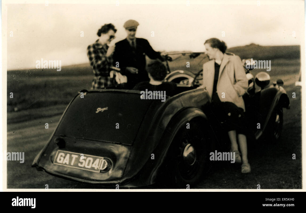 Singer Vintage Car, England. Hull registration. 1930s Stock Photo ...