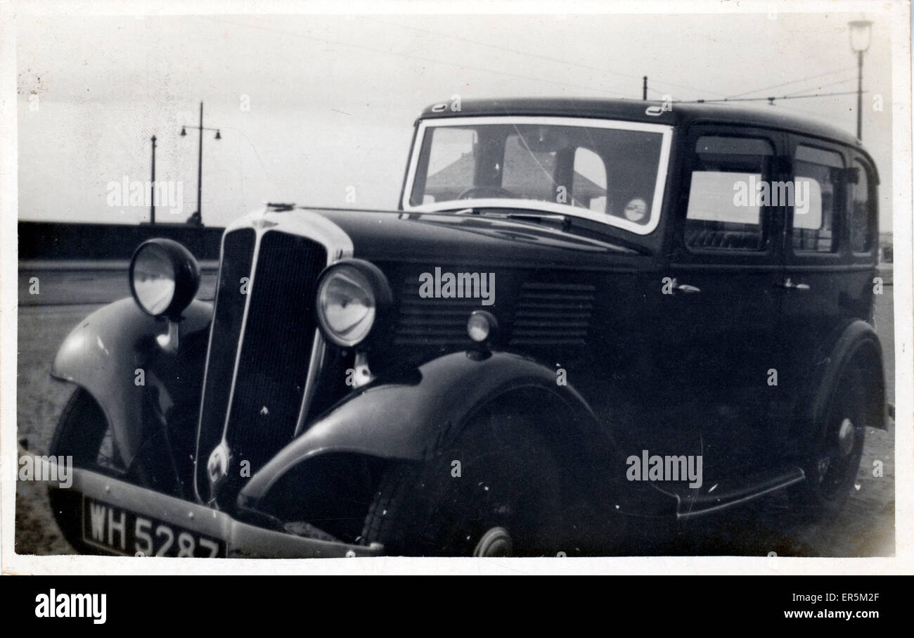 Standard Ten Vintage Car, England. Bolton registration. 1930s ...
