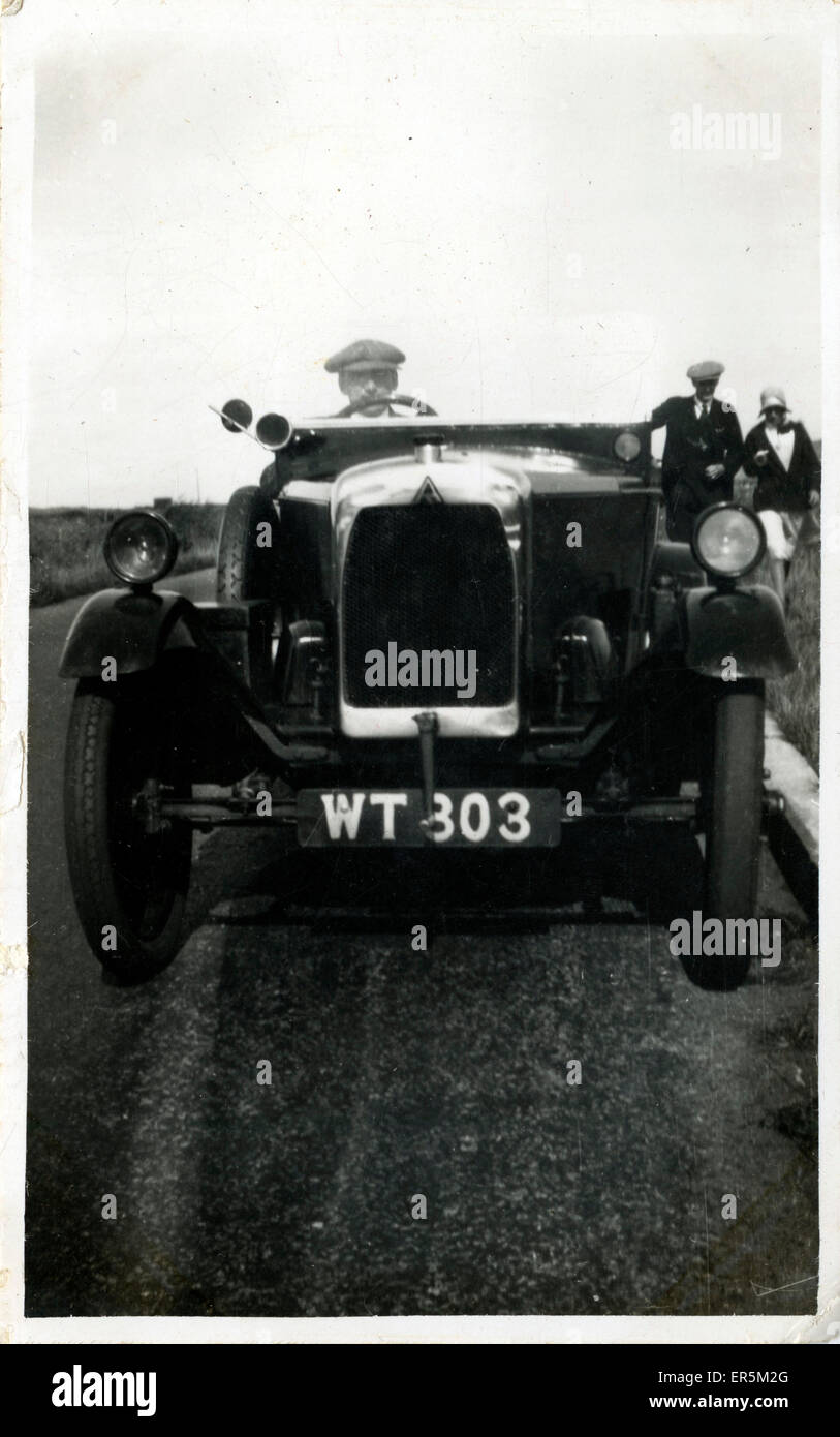Vintage Car (awaiting identification), England. Leeds registration ...